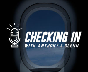 Checking in color logo
